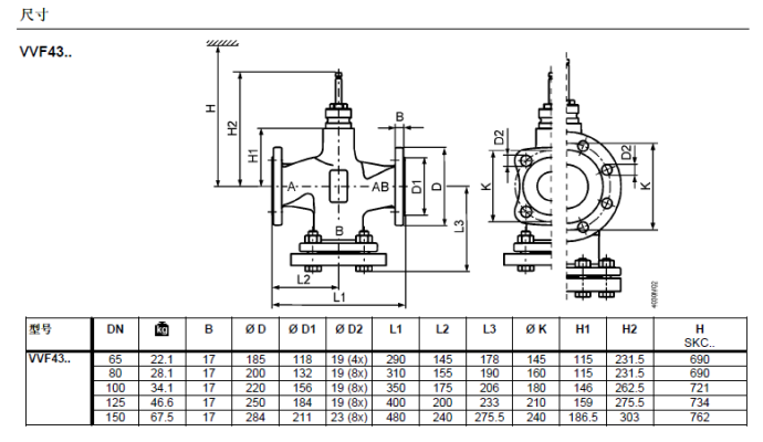 vxf43.-西门子电动温控阀系列